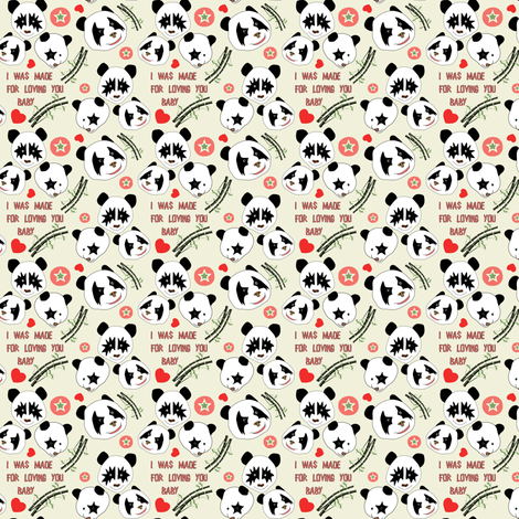 small scale Kizz panda fabric by susiprint on Spoonflower - custom fabric