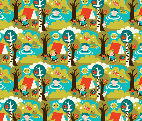 Camping fabric by bora on Spoonflower - custom fabric