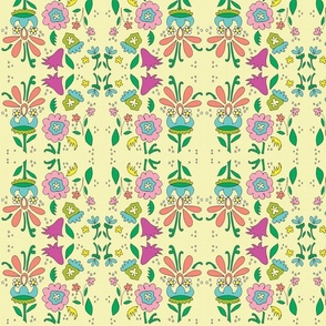 flowerfield in lime