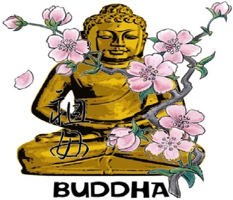 BUDDHA fabric by bluevelvet on Spoonflower - custom fabric