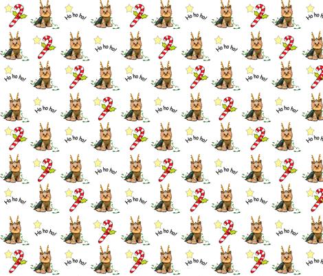 Yorkie Christmas fabric by catiacho on Spoonflower - custom fabric