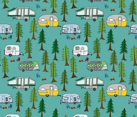 campers_in_the_park fabric by jeannemcgee on Spoonflower - custom fabric