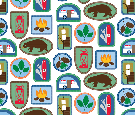 Badge of Honor fabric by margaret_m on Spoonflower - custom fabric