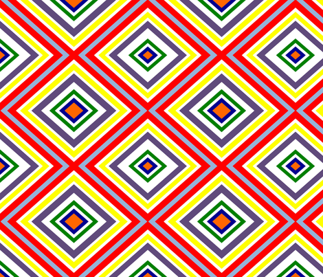 Preppy Diamonds (Multi) fabric by stitching_dvm on Spoonflower - custom fabric