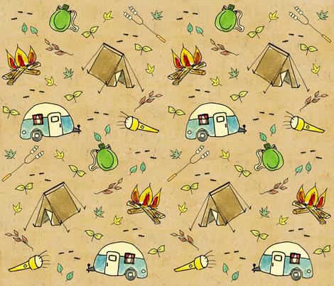camping_small fabric by kvasgaard on Spoonflower - custom fabric