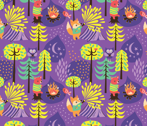 A Night in the Forest fabric by my_zoetrope on Spoonflower - custom fabric