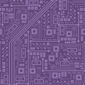 Robot Circuit Board (Purple)