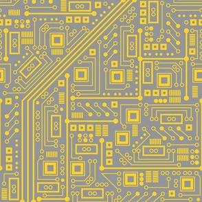 Robot Circuit Board (Yellow & Gray)