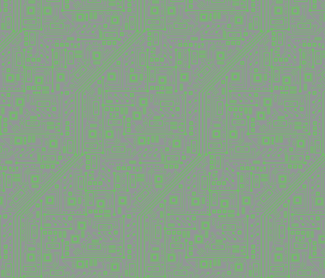 Robot Circuit Board (Green & Gray) fabric by robyriker on Spoonflower - custom fabric