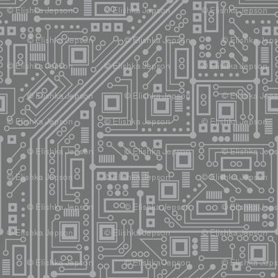 Robot Circuit Board (Gray)