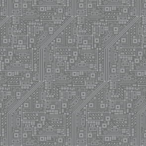 Robot Circuit Board (Gray)