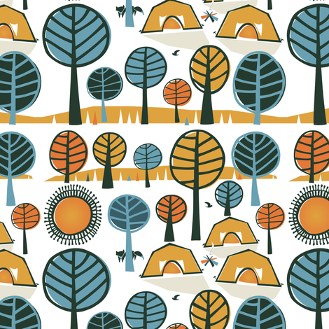 A Whimsical Vacation fabric by licoricelove on Spoonflower - custom fabric