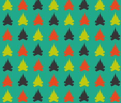 Simple firecamp fabric by lucybaribeau on Spoonflower - custom fabric