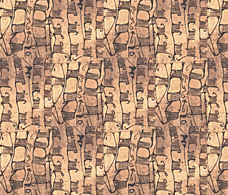 Pygmy Bark Cloth fabric by susaninparis on Spoonflower - custom fabric