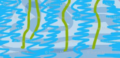 Stems in Blue Vase