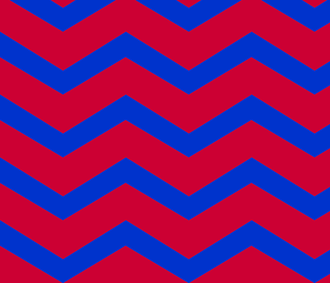 chevron blue and red large fabric by luluhoo on Spoonflower - custom fabric