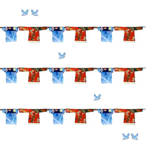 Hong Kong Washline and bluebirds fabric by karenharveycox on Spoonflower - custom fabric