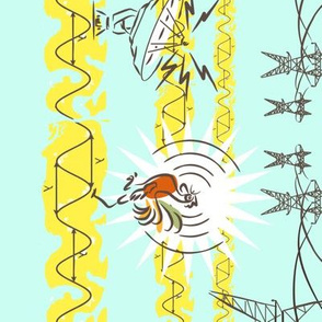 "radiotronic rooster 54"" doubleborder Blue"