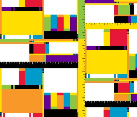 Mod School Supplies fabric by modgeek on Spoonflower - custom fabric
