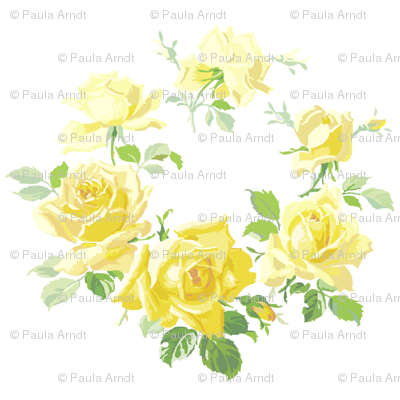 Caroline Yellow Rose Wreath