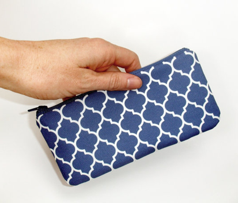 moroccan quatrefoil lattice in egyptian blue
