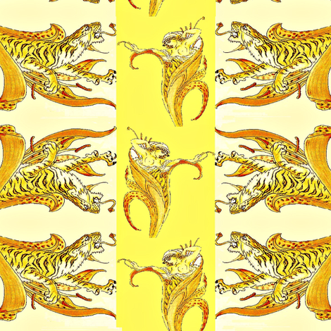 Tiger Lily fabric by starsofsobek on Spoonflower - custom fabric