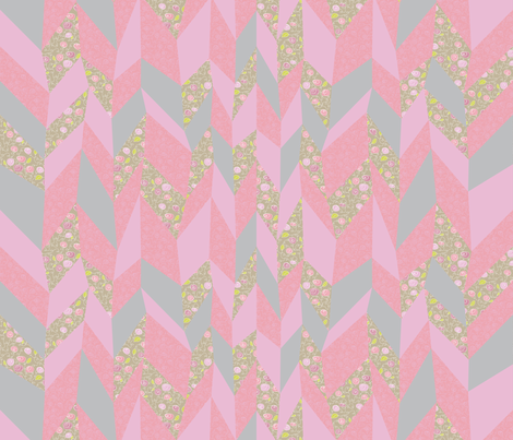 Crazy Chevron Cheater Quilt fabric by ghennah on Spoonflower - custom fabric