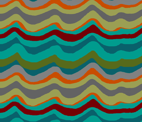 Funday wave fabric by paragonstudios on Spoonflower - custom fabric