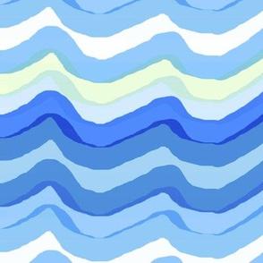 Zig Zag stripe / baby blue