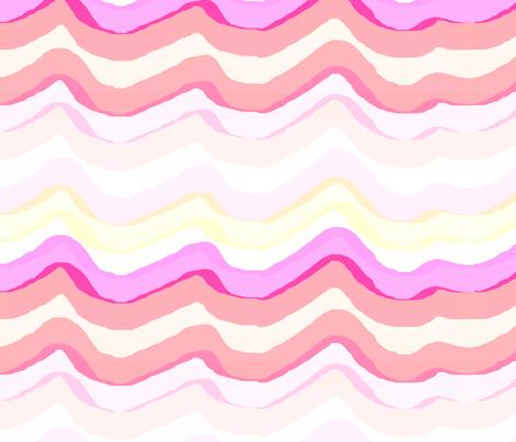 Zig Zag stripe / watermelon fabric by paragonstudios on Spoonflower - custom fabric