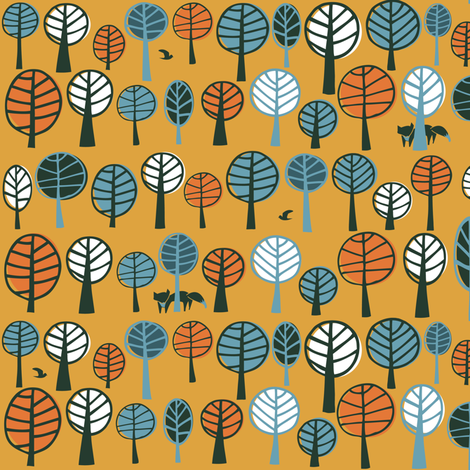 Quirky Forest fabric by licoricelove on Spoonflower - custom fabric