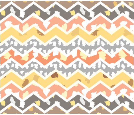 fern_chevron_quilt fabric by ma0 on Spoonflower - custom fabric