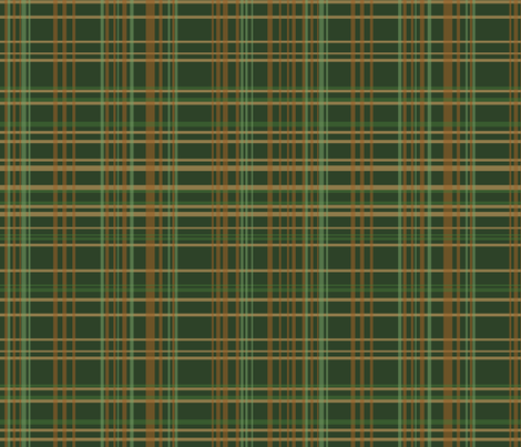Evergreen Plaid fabric by rubydoor on Spoonflower - custom fabric