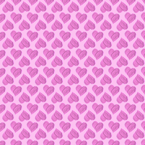 Princess Sweetheart's Pink Hearts Party Cloth. fabric by rhondadesigns on Spoonflower - custom fabric
