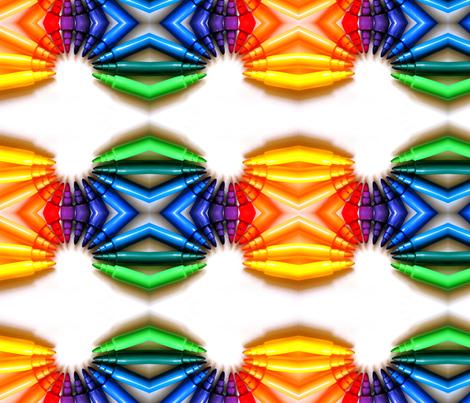 Rainbow pens - Small fabric by loca____ on Spoonflower - custom fabric