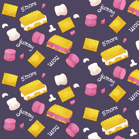 S'mores - dark fabric by irrimiri on Spoonflower - custom fabric