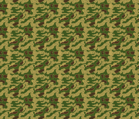 1/6 Scale Sumpfmuster 43 Tan & Water Camo fabric by ricraynor on Spoonflower - custom fabric