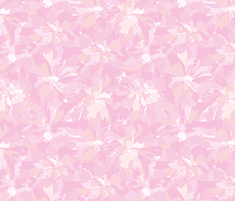Pink peony fabric by stewsha on Spoonflower - custom fabric