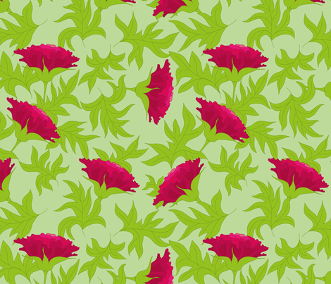 Leaves and flowers fabric by stewsha on Spoonflower - custom fabric