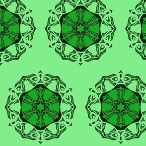 Butterfly Wheel (two tone green)
