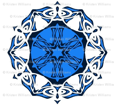 Butterfly Wheel (blue and white)