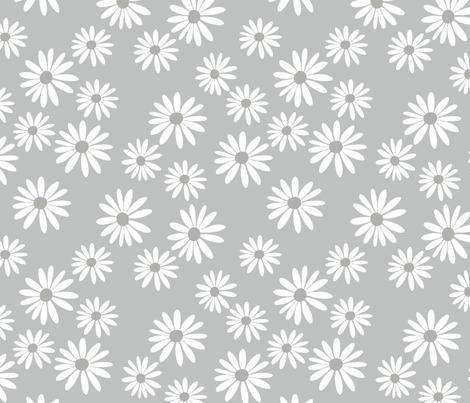 Daisy Mist fabric by de-ann_black on Spoonflower - custom fabric