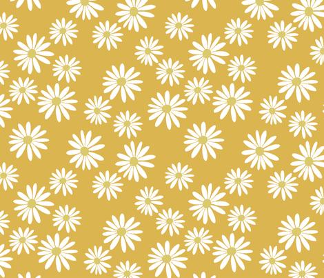 Daisy Caramel fabric by de-ann_black on Spoonflower - custom fabric