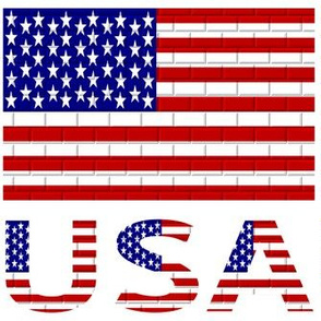USA Flag & Name Brick