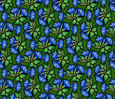 Morning glories fabric by hannafate on Spoonflower - custom fabric
