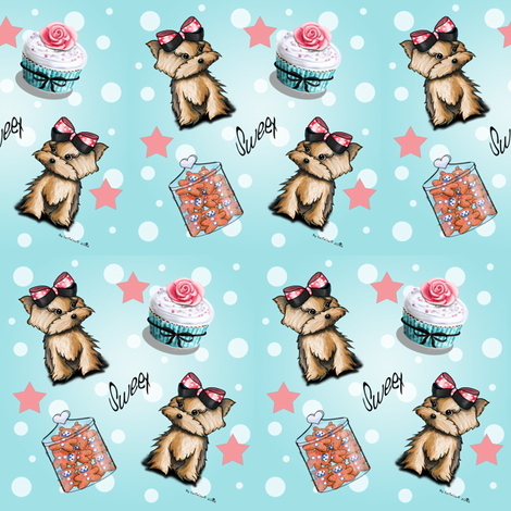 Sweet little thing fabric by catiacho on Spoonflower - custom fabric