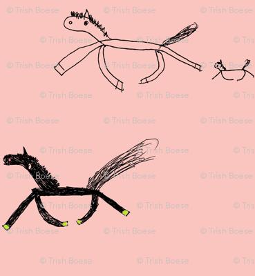 Tiffany's Horses on Pink