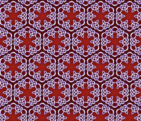 celtic knot hexagons fabric by hannafate on Spoonflower - custom fabric