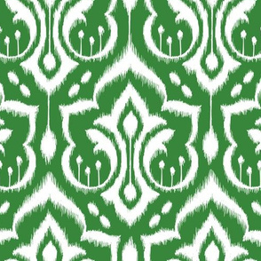 Ikat Damask - Evergreen