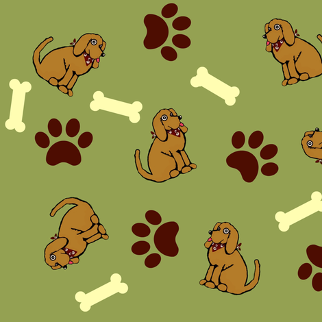 At Camp Funday / Charlie the lab fabric by paragonstudios on Spoonflower - custom fabric
